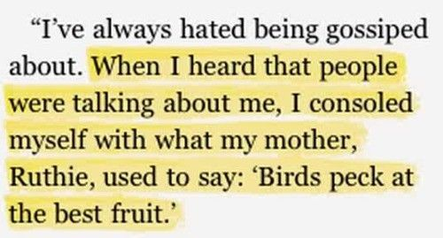 Gossip: Words Of Wisdom, Little Girls, Fruit, Remember This, For Kids, Quote, So True, Birds Peck, People