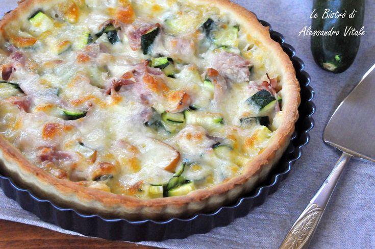 Crostata di zucchine mozzarella e prosciutto cotto, secondo piatto