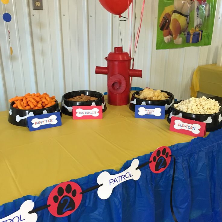 Paw Patrol Birthday Party. Paw Patrol Party Supplies from littlemichaels on etsy. For more party ideas follow @little_michaels on Instagram.