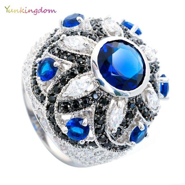 Completo embutimento zircon anéis para as mulheres banhado a ouro encantos anillos anéis do sexo feminino presentes de Feriado de aniversário