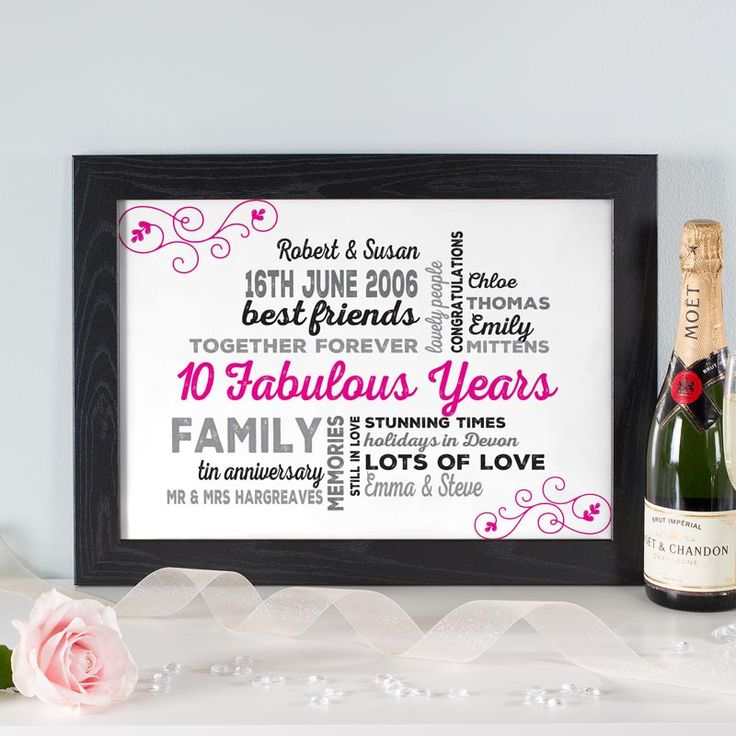 If you are searching for a unique wedding anniversary gift for the happy couple, try making a personalised word art print or canvas. See your design come to life as you type with instant previews. All orders shipped in just 2 working days with free UK delivery