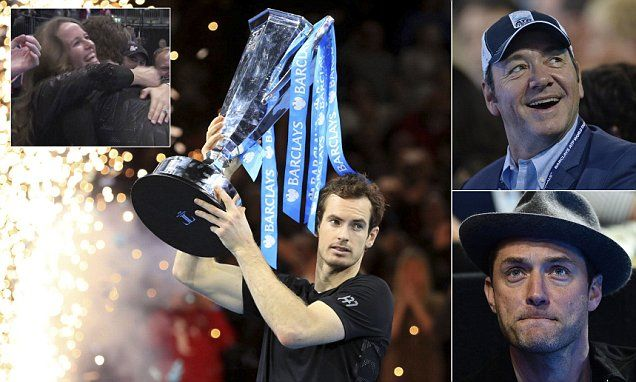 Footballers Gerard Pique and Bastian Schweinsteiger, and the latter's tennis legend wife Ana Ivanovic were also in the crowd as Murray romped to victory at the O2.