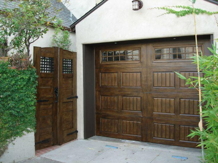 95 best for the garage images on pinterest garage doors for Steel garage doors that look like wood