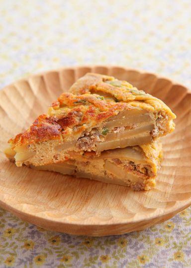 じゃが芋とひき肉のスパニッシュオムレツ のレシピ・作り方 │ABCクッキングスタジオのレシピ | 料理教室・スクールならABCクッキングスタジオ