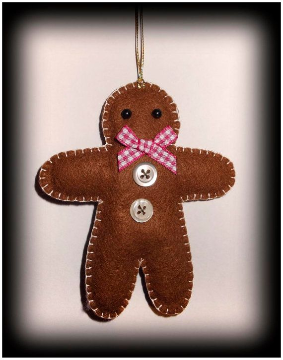 Handcrafted Felt Gingerbread Christmas decoration
