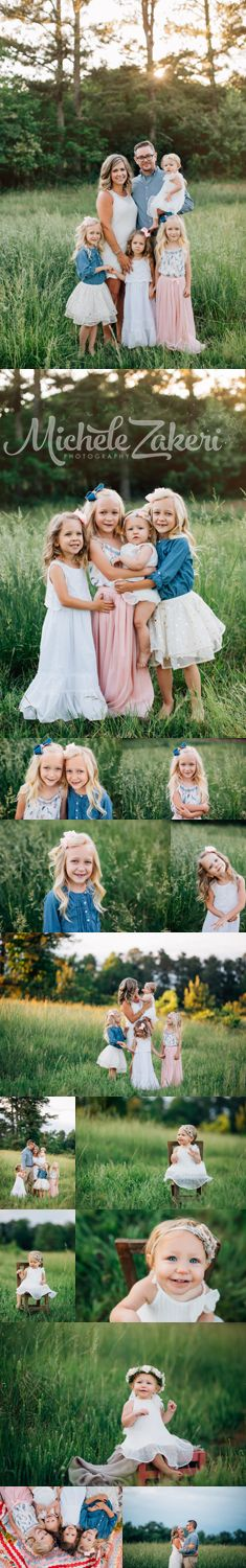 Gwinnett Family Photographer, Family Photos, Family Photo Inspiration, Family of Six, Outdoor Family Photos, Summer Family Photos, Atlanta Family Photographer, Georgia Family, Photographer, Family Portraits, what to wear, Michele Zakeri