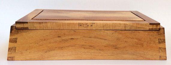 Trapezoide isósceles cola de pato caja de madera de por SteveSorton