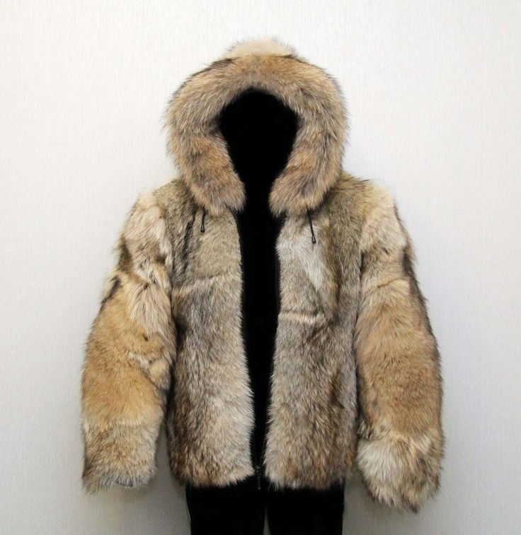 Coyote Fur Jacket for Men | Sale Men's Bomber Jacket Genuine Siberian Wolf Fur Coyote Leather New ...