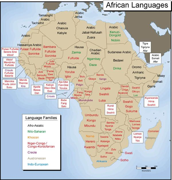 Africa is home to a plethora of diverse cultures, therefore there are a lot of uniquely indigenous languages - over 1,000 to be exact!
