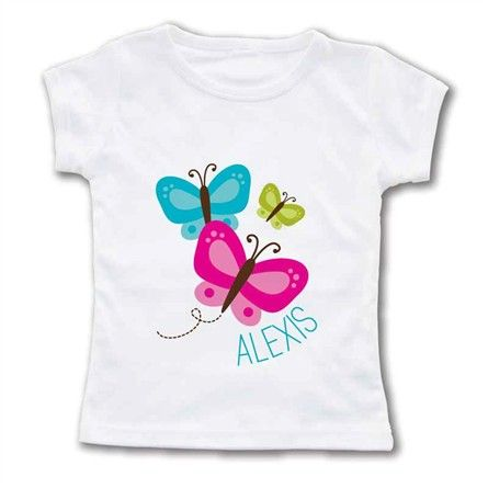 Rosenberry Rooms is offering a 10% discount on your purchase of $350 or more.  Share the news and take advantage of the savings! Flutter By Girl Personalized T-Shirt #rosenberryrooms