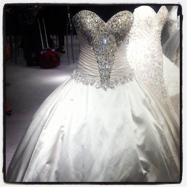 105 best images about wedding dress on pinterest best for Blinged out wedding dress