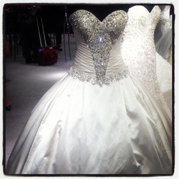 1000 ideas about bling wedding dresses on pinterest for Big bling wedding dresses