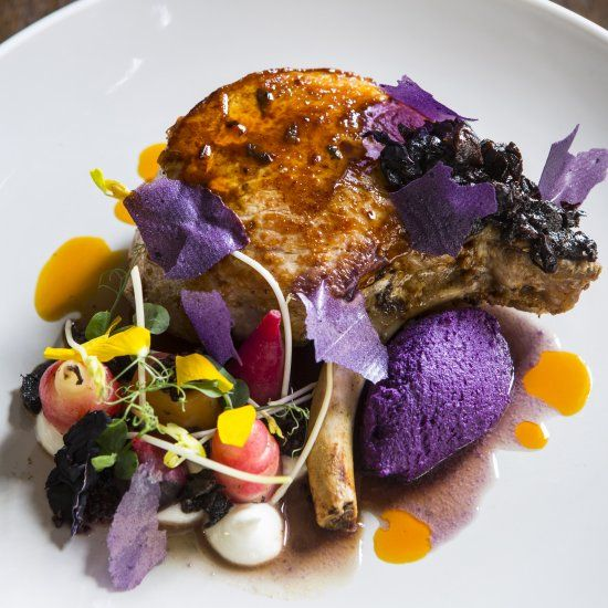 This stunning pork chop recipe from Robert Ortiz is perfect for a barbecue!