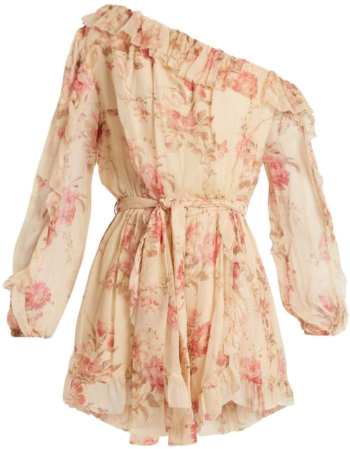 cb3e57b4ddb9 ZIMMERMANN Corsair Whimsy floral-print silk playsuit
