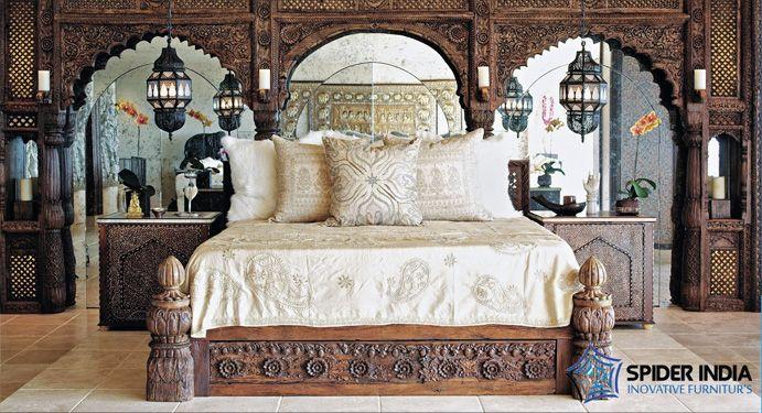 Wooden Furniture,Wooden Bed,Silver Inlay Bed Manufacturer, Antique & vintage beds manufactures, jodhpur furniture, spider India , sohan singh reproduction bed, old bed, antique bed, arch bed,designer furniture