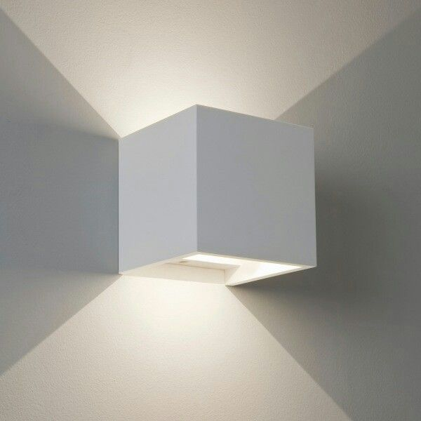 White lamp on the wall