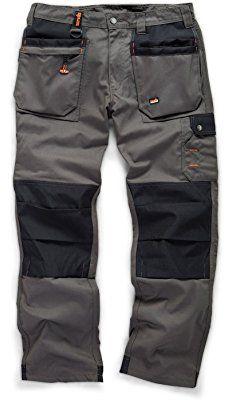 Scruffs WORKER PLUS Graphite Grey Work Trousers (All Sizes) Hardwearing Trade Combat Cargo Men's Kneepad Pocket Workwear Pants