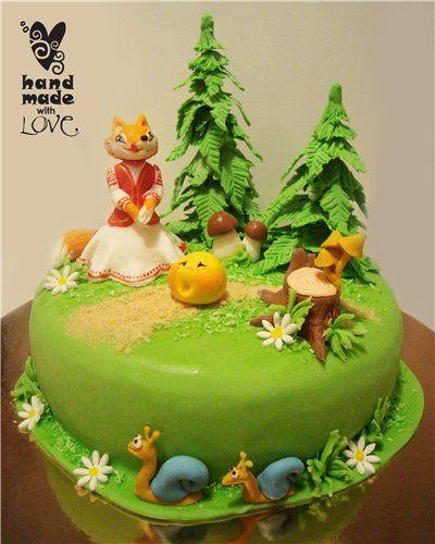торт со сказочными персонажами своими руками фото нашей