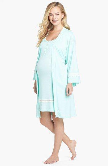 Olian 3-Piece Maternity Sleepwear Set available at #Nordstrom great hospital wear