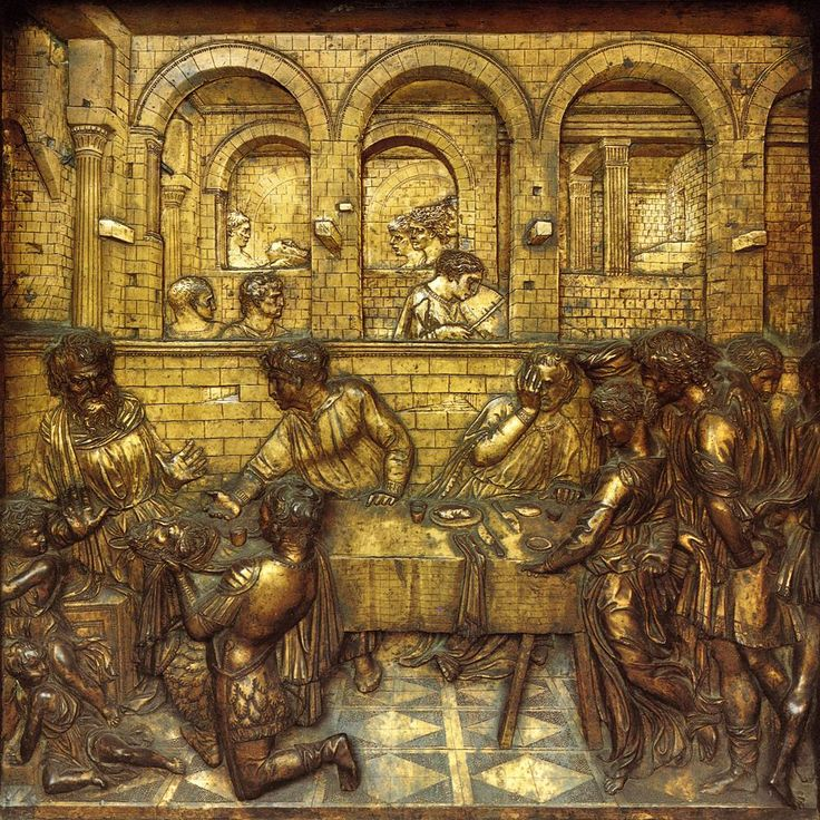 an analysis of donatellos the feast of the herod The feast of herod by donatello is a relief sculpture made of bronze that was  created around 1427 it is currently on display in the siena cathedral in italy.