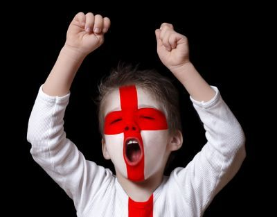 Enthusiastically celebrating St George's Day by painting his flag on your face ;-) April 23