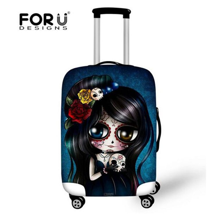 Promo offer US $14.43  FORUDESIGNS Skull Design Protective Luggage Cover Dustproof Travel Luggage Cover Suit for 18-28 inch Case Elastic Suitcase Cover  #FORUDESIGNS #Skull #Design #Protective #Luggage #Cover #Dustproof #Travel #Suit #inch #Case #Elastic #Suitcase