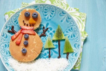 snowman christmas breakfast ideas for kids - Snow day!