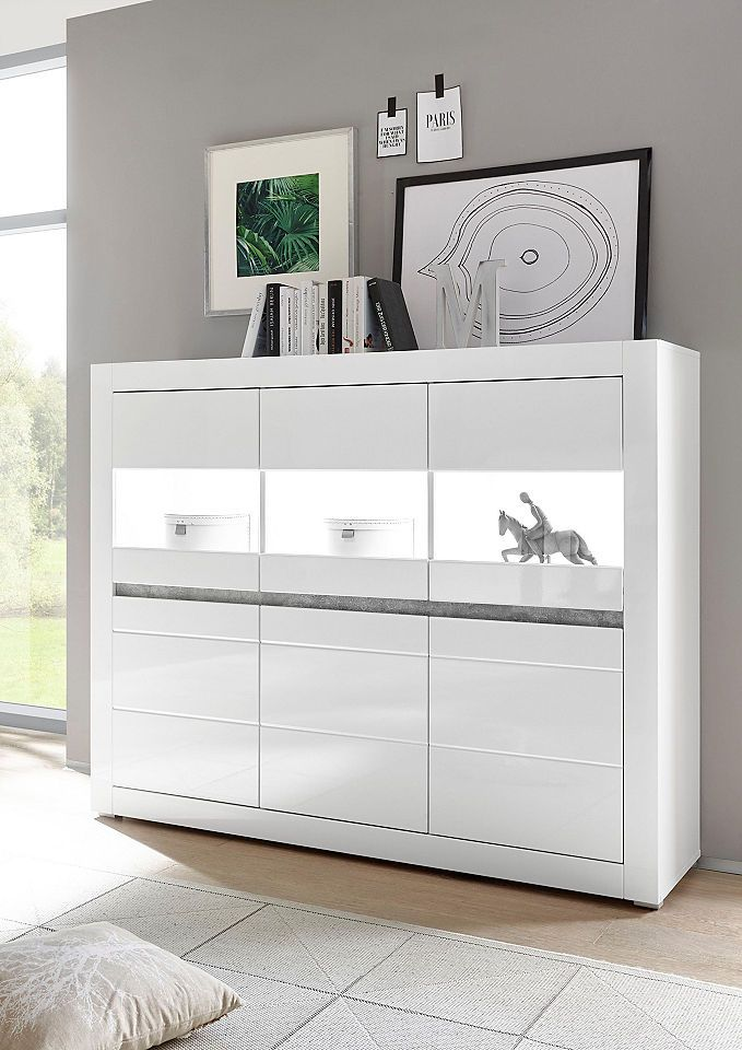 18++ Highboard weiss mit holz Trends