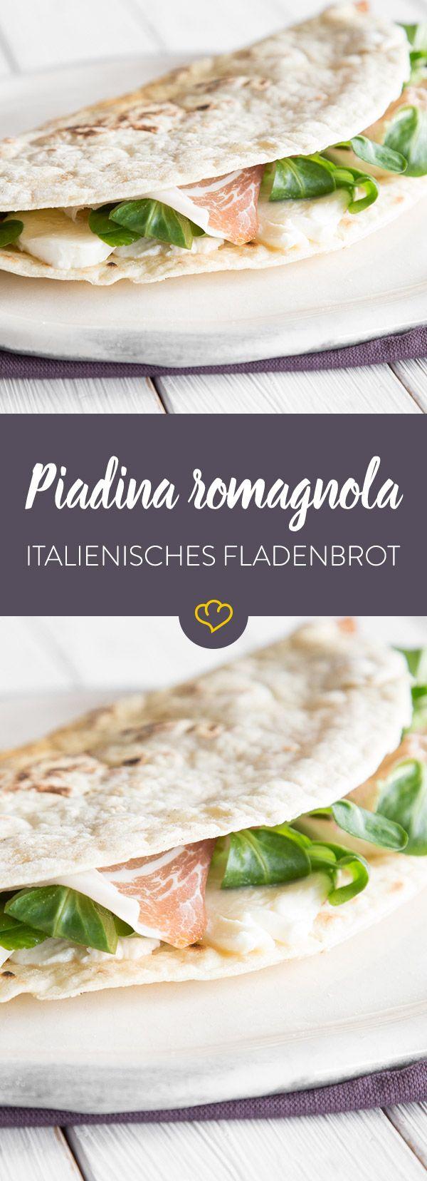 Das gefüllte Fladenbrot kommt ursprünglich aus der Emilia Romagna und gilt mittlerweile als eines der beliebtesten Streetfoods in ganz Italien.