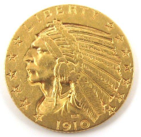 $5 Indian Head Half Eagle Gold Coin
