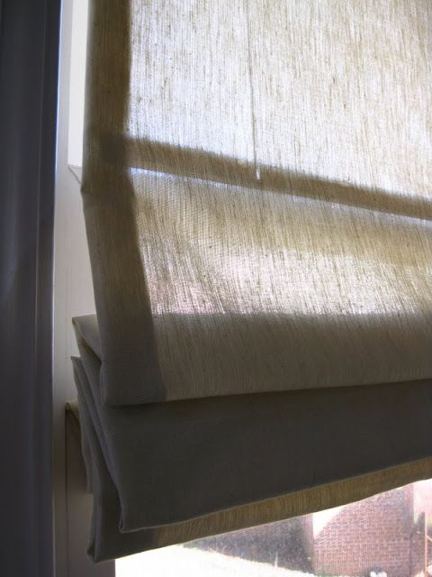 Idea for your living room or kitchen....How to Turn Mini Blinds into Roman Shades