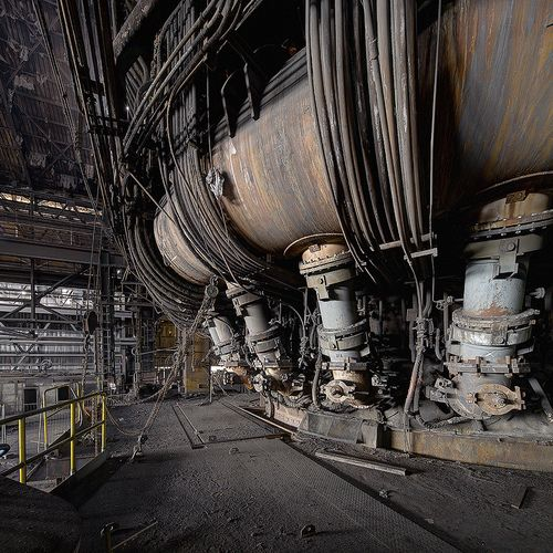 destroyed-and-abandoned:  A Giger like blast furnace Source:...