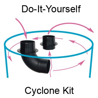 Cyclone Kits - make a cyclonic separator using your own container