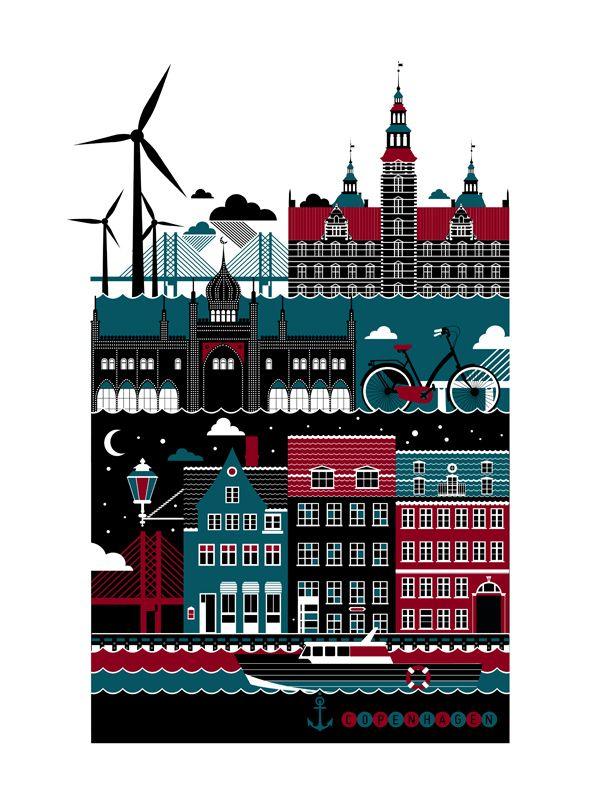 city poster series copenhagen