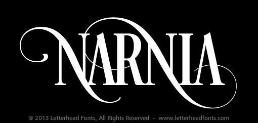 Narnia   Letterhead Fonts / LHF Desire / Decorative Fonts