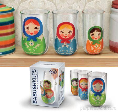 Babushkups Glasses. I need these.: Coolest Gifts, Cute Cups, Gifts Ideas, Russian Dolls, Babushkup Glasses, Babushkup Russian, Nests Glasses, Nests Dolls, Matryoshka Dolls