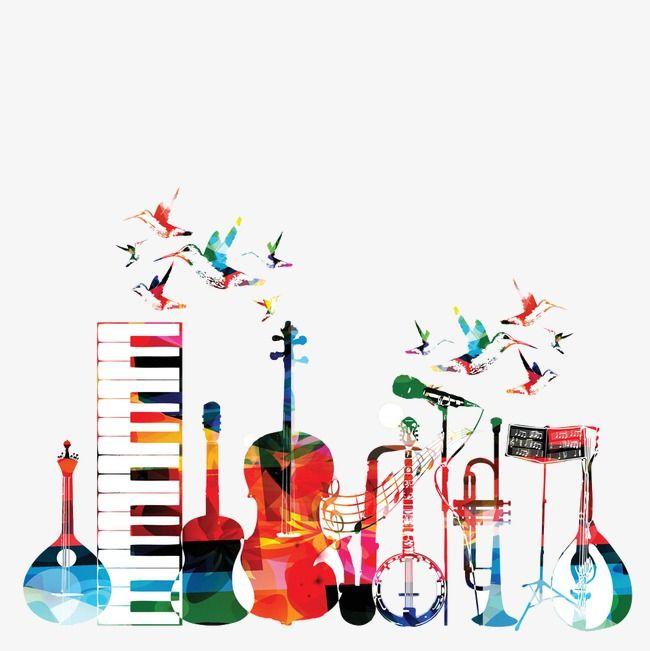 Cartoon Clipart Color Cartoon Musical Instruments Musical Instruments Colored Clipart Musical Clipart Musical Instruments Drawing Cartoon Clip Art Musical Art