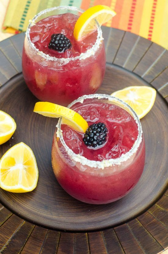 Blackberry Lemonade Margaritas - the perfect warm weather party drink!