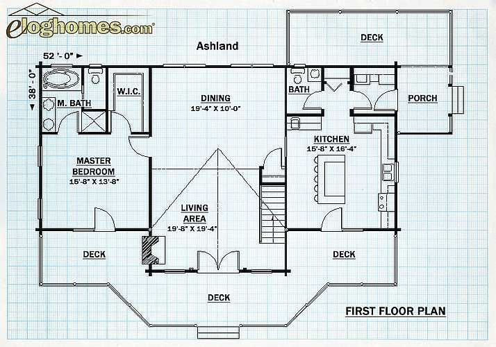The Ashland Log Home Floor Plans Floor Plans Lake House Plans