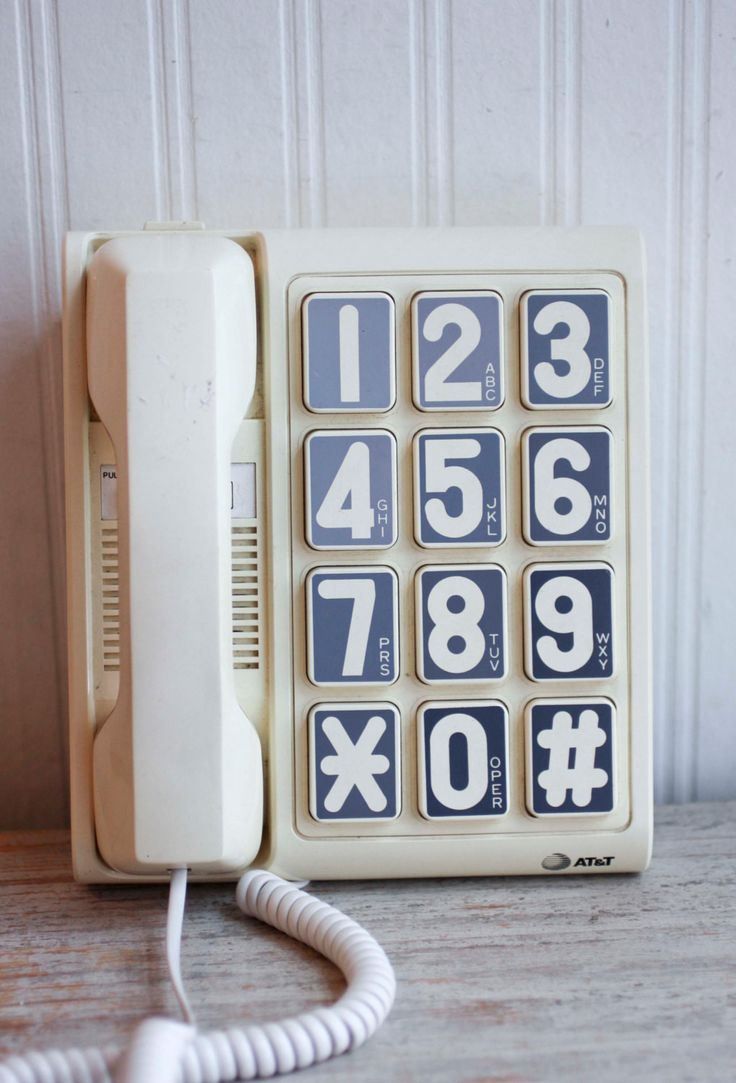 1990s Large Number Vintage Telephone - Landline AT&T Desk Phone