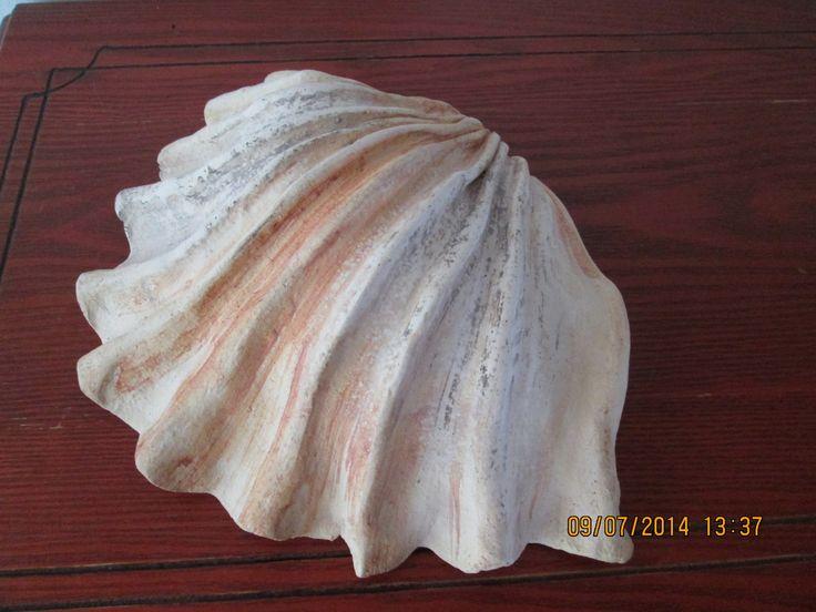 Mušle jak od moře Keramická mušle vhodná jako dekorace nebo s dírkou a naglazovaný jako neobvyklý květináček.Rozměry cca 24x16cm. Dle vašeho přání mohu vyhotovit ze šamotové hlíny - není třeba na zimu schovávat. Cena zůstává stejná.