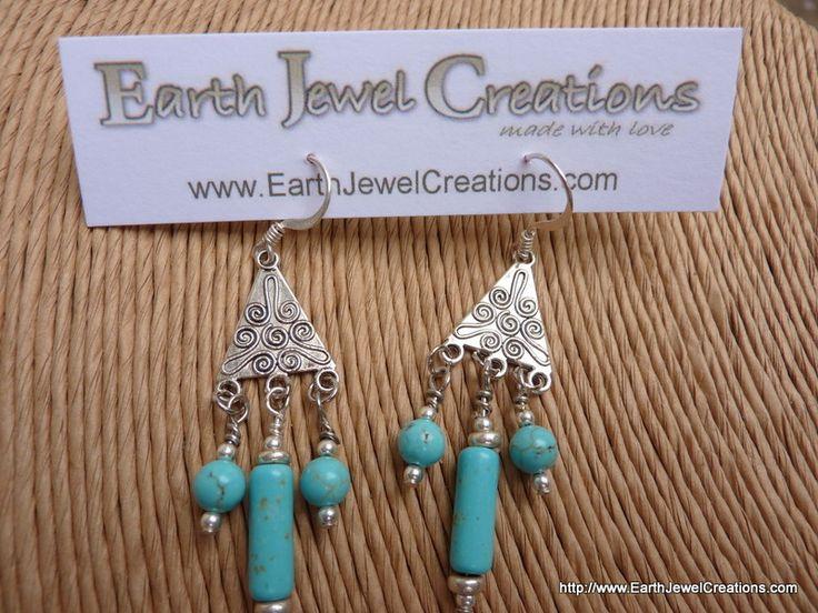 Gemstone Spiral 3 Drop Earrings - Inspirational handmade gemstone jewellery Earth Jewel Creations Australia