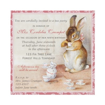 35 best Party Ideas Beatrix Potter images – Beatrix Potter Birthday Invitations