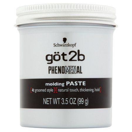 Schwarzkopf got2b Phenomenal Molding Paste, 3.5 oz, Multicolor