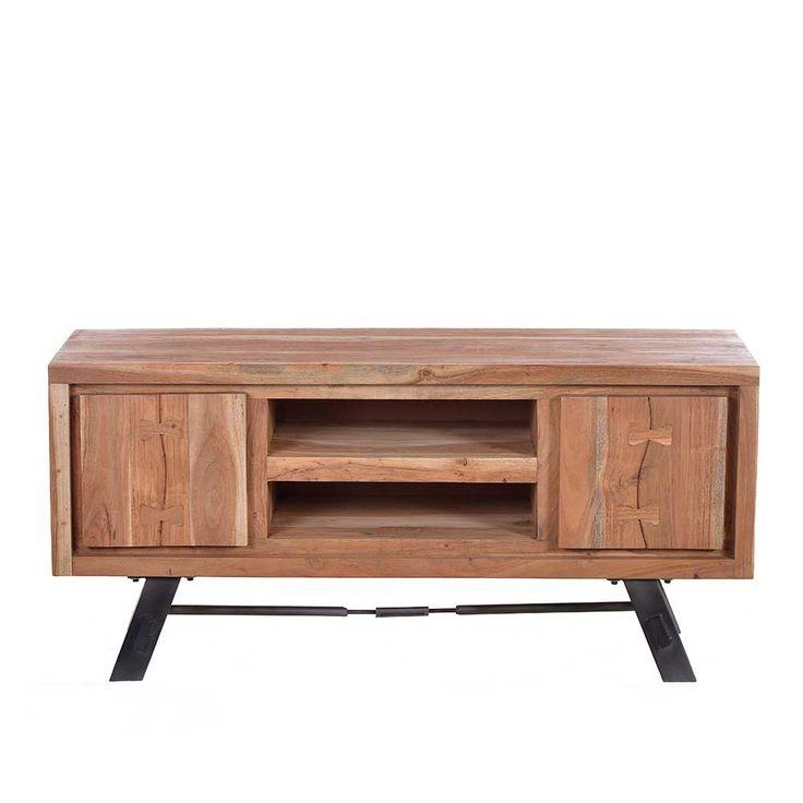 Marvelous TV Board aus Akazie Massivholz Metall Jetzt bestellen unter https moebel ladendirekt de wohnzimmer tv hifi moebel tv lowboards uid udfd dc