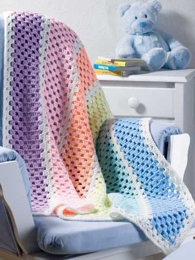 ❤❤❤ EASY SCRAP AFGHAN ❤❤❤ Love this adorable blanket design pattern- scrap yarn crochet project 3 more design patterns to choose from - Easy ~ Crochet Baby Blanket / Afghan