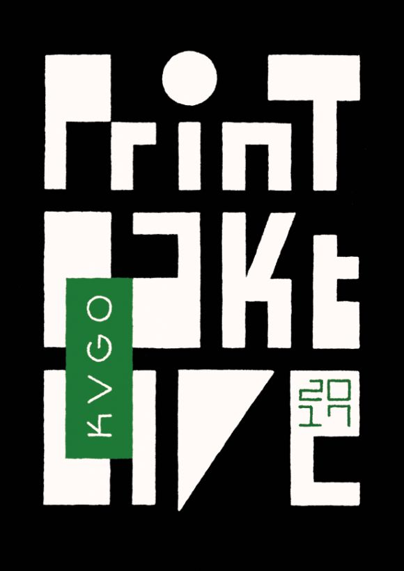 Logo by Joost Swarte for Print Pakt Live 2017