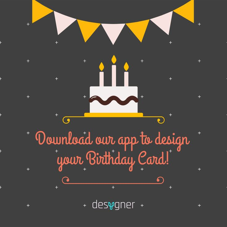 Free printable DIY birthday invitations made by you in Desygner! Perfectly suited to both boys and girls birthday parties with a lovely cake and banner. Get the template with Desygner to create a colourful invitation perfect for your party.