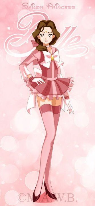 I like this version of Belle as a Sailor Scout.  It suits her character more than the other style.