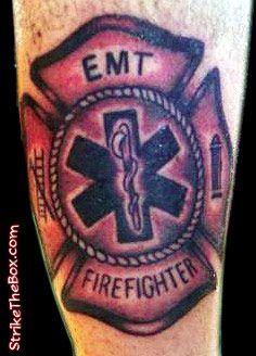 firefighter tattoo | EMS Firefighter Tattoos